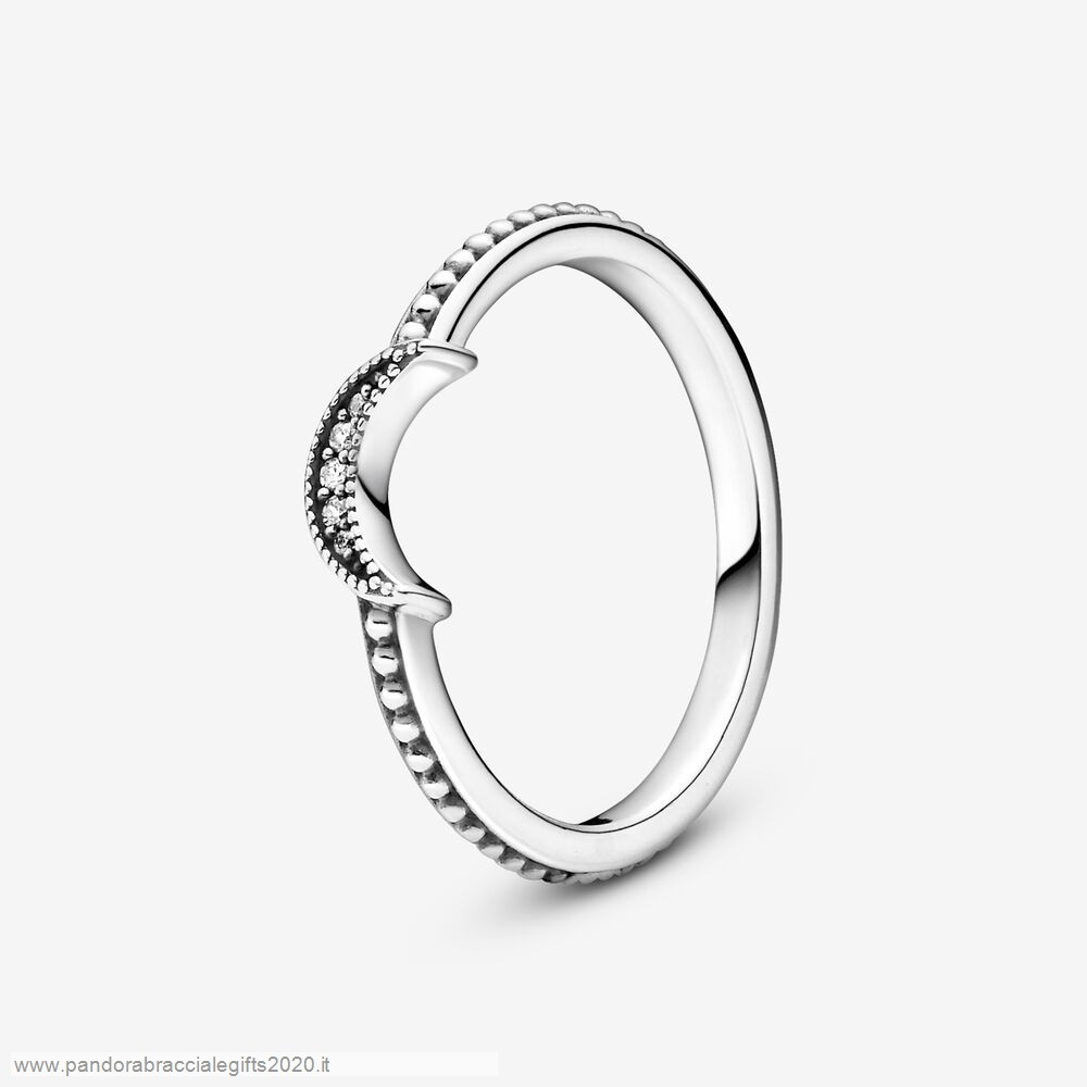 Saldi Pandora Shop Crescent Moon In Rilievo
